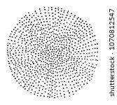 hand drawn halftone circle   Shutterstock . vector #1070812547