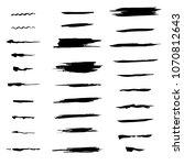 set of brushes  raster copy   Shutterstock . vector #1070812643