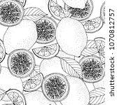 black and white seamless...   Shutterstock . vector #1070812757