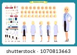 female doctor character... | Shutterstock .eps vector #1070813663