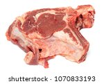 a piece of beef meat on a white ... | Shutterstock . vector #1070833193