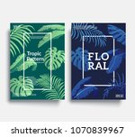 trendy floral cover templates.... | Shutterstock .eps vector #1070839967