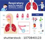 respiratory system of human.... | Shutterstock .eps vector #1070840123