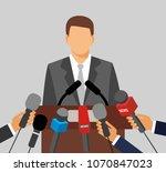 live report concept. press... | Shutterstock . vector #1070847023
