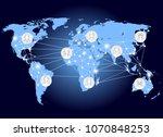 world network. social networks... | Shutterstock . vector #1070848253