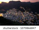 view of rocinha  the largest... | Shutterstock . vector #1070866847