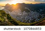 panoramic view of rocinha  the... | Shutterstock . vector #1070866853