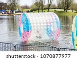 waterball on the lake | Shutterstock . vector #1070877977
