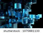 abstract 3d rendering of... | Shutterstock . vector #1070881133