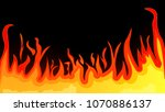 fiery flame from the cartoon.... | Shutterstock .eps vector #1070886137