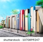 education concept. campus.... | Shutterstock . vector #1070899247