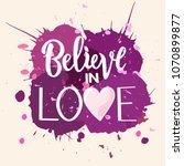 vector illustration of believe... | Shutterstock .eps vector #1070899877