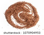 seeds of flax are beautifully...   Shutterstock . vector #1070904953