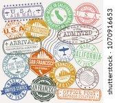 san francisco california stamp... | Shutterstock .eps vector #1070916653