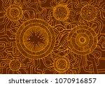 colored vintage background ... | Shutterstock .eps vector #1070916857