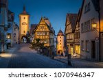 classic view of the medieval... | Shutterstock . vector #1070946347