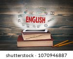 english  education and business ... | Shutterstock . vector #1070946887