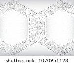 high tech hexagon technology... | Shutterstock .eps vector #1070951123