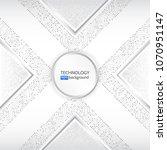 high tech technology background ... | Shutterstock .eps vector #1070951147