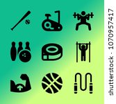 vector icon set about fitness... | Shutterstock .eps vector #1070957417