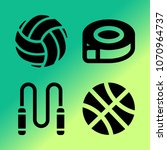 vector icon set about fitness... | Shutterstock .eps vector #1070964737