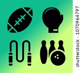 vector icon set about fitness... | Shutterstock .eps vector #1070964797
