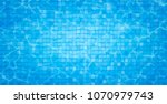 swimming pool bottom caustics... | Shutterstock .eps vector #1070979743