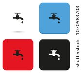 water tap flat vector icon.   Shutterstock .eps vector #1070983703