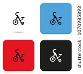 tricycle flat vector icon. | Shutterstock .eps vector #1070985893