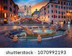 rome. cityscape image of... | Shutterstock . vector #1070992193