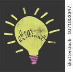 be brilliant think | Shutterstock .eps vector #1071003347