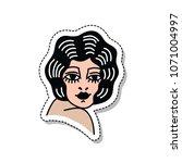 girl illustration traditional... | Shutterstock .eps vector #1071004997