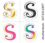 letters s alphabet font design... | Shutterstock .eps vector #1071011897