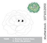 cabbage vegetable   complete...   Shutterstock .eps vector #1071012053