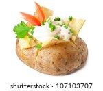 Baked Potato Isolated On White...