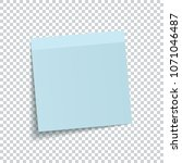 blue sticky note isolated on... | Shutterstock .eps vector #1071046487