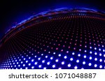 led wall background overlay | Shutterstock . vector #1071048887
