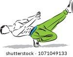hip hop guy dancer vector... | Shutterstock .eps vector #1071049133