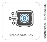 bitcoin safe box icon. modern... | Shutterstock .eps vector #1071058337