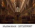 wells cathedral  somerset ... | Shutterstock . vector #1071059087