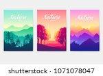 sunrise over the beauty of... | Shutterstock .eps vector #1071078047