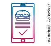 degraded line smartphone with... | Shutterstock .eps vector #1071090977