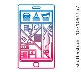 degraded line smartphone gps... | Shutterstock .eps vector #1071091157