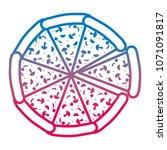 degraded line delicious pizza... | Shutterstock .eps vector #1071091817
