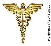 caduceus medical symbol as a... | Shutterstock . vector #107110223