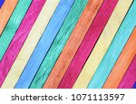 vintage wood colour wall... | Shutterstock . vector #1071113597