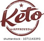 ketogenic diet approved product ... | Shutterstock .eps vector #1071143393