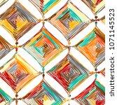mandala knitting  seamless... | Shutterstock .eps vector #1071145523