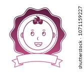 head baby girl lace with ribbon ... | Shutterstock .eps vector #1071159227