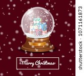 vector snowball filled with... | Shutterstock .eps vector #1071161873